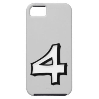 Silly Number 4 white iPhone 5 Case-Mate Tough™ iPhone SE/5/5s Case