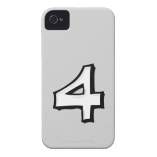 Silly Number 4 white iPhone Case-Mate ID