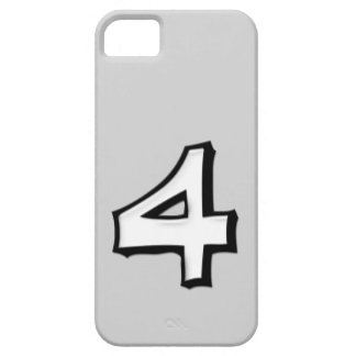 Silly Number 4 white iPhone Case-Mate ID iPhone SE/5/5s Case