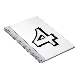 Silly Number 4 white Notebook