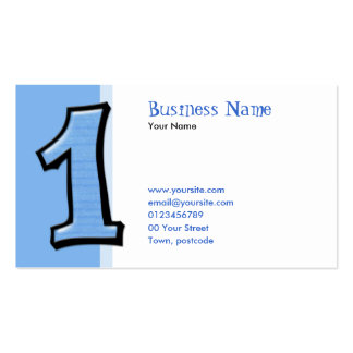 Silly Numbers 1 blue Business Card