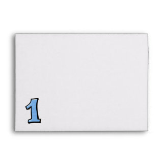 Silly Numbers 1 blue Card Envelopes