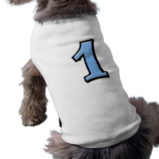 Silly Numbers 1 blue Dog T-shirt