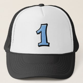 Silly Numbers 1 blue Hat