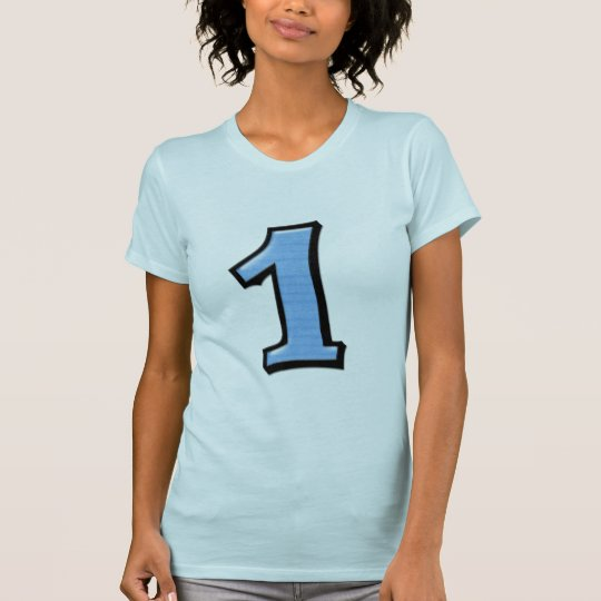 Silly Numbers 1 blue Ladies T-shirt