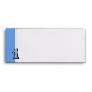 Silly Numbers 1 blue Letterhead Envelopes