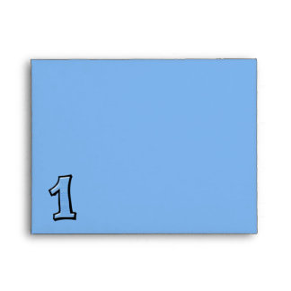 Silly Numbers 1 blue Note Card Envelope