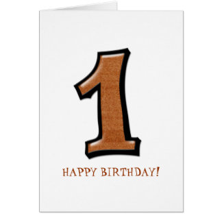 Silly Numbers 1 chocolate Birthday Card