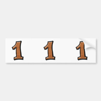 Silly Numbers 1 chocolate cutout Stickers