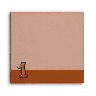 Silly Numbers 1 chocolate Invitation Envelope