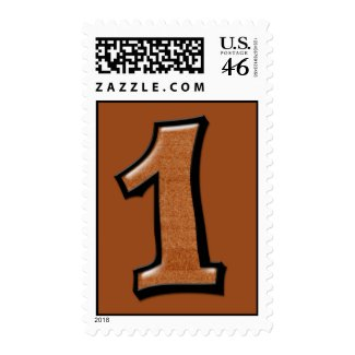 Silly Numbers 1 chocolate Postage stamp