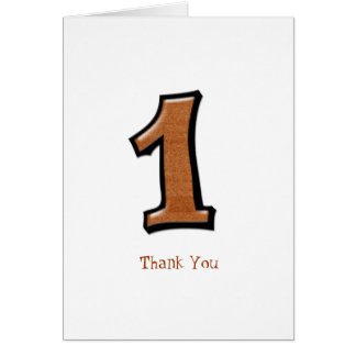 Silly Numbers 1 chocolate Thank You Note Card
