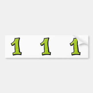 Silly Numbers 1 green cutout Stickers