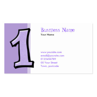 Silly Numbers 1 lavender Business Card