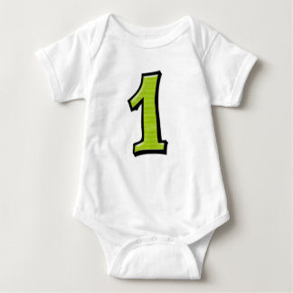 Silly Numbers 1 lime green Infant T-shirt