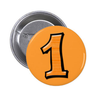 Silly Numbers 1 orange Button