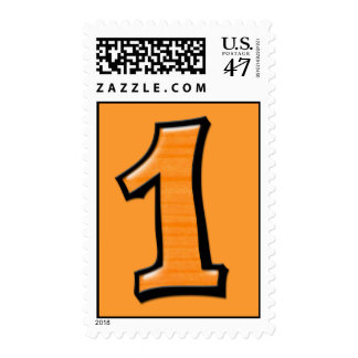Silly Numbers 1 orange Stamp