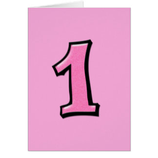 Silly Numbers 1 pink Card
