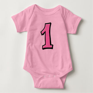 Silly Numbers 1 pink Infant T-shirt