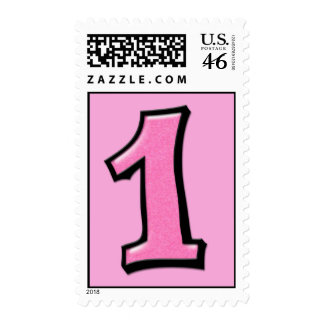 Silly Numbers 1 pink Stamp
