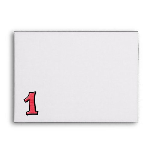 Silly Numbers 1 red Card Envelopes