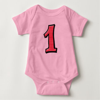 Silly Numbers 1 red Infant  T-shirt