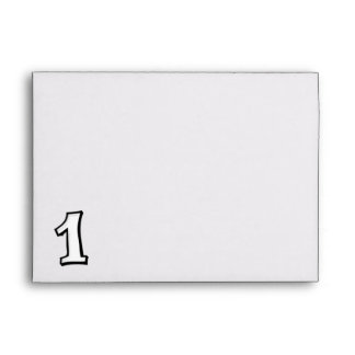 Silly Numbers 1 white Card Envelopes