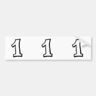 Silly Numbers 1 white cutout Stickers