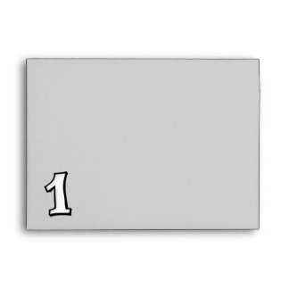 Silly Numbers 1 white Envelope