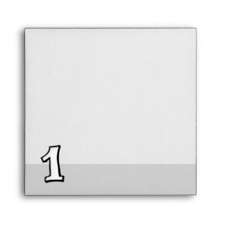 Silly Numbers 1 white Invitation Envelope