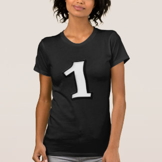 Silly Numbers 1 white Ladies T-shirt