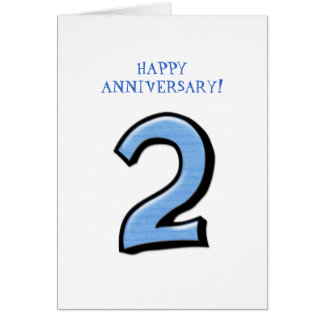 Silly Numbers 2 blue Anniversary Card