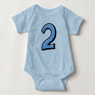 Silly Numbers 2 blue Infant T-shirt