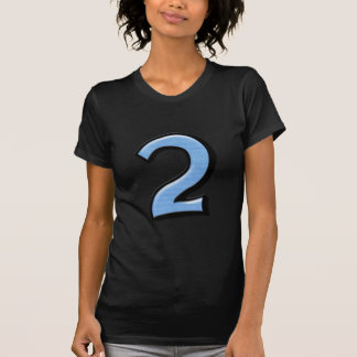 Silly Numbers 2 blue Ladies T-shirt