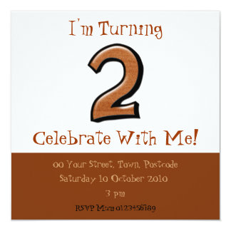 Silly Numbers 2 chocolate Birthday Invitation