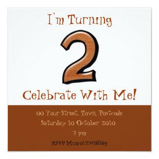 Silly Numbers 2 chocolate Birthday Invitation