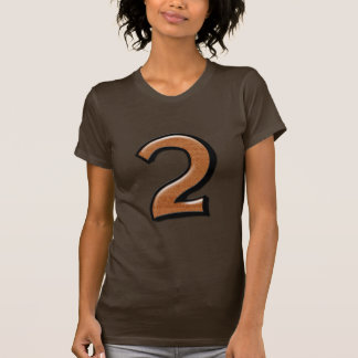 Silly Numbers 2 chocolate Ladies T-shirt