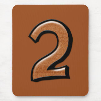 Silly Numbers 2 chocolate Mousepad