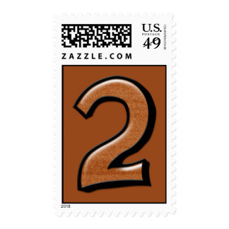 Silly Numbers 2 chocolate Stamp
