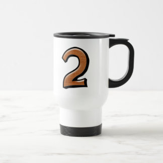 Silly Numbers 2 chocolate Travel Mug