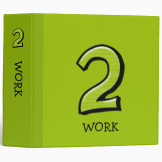 Silly Numbers 2 green Avery Binder