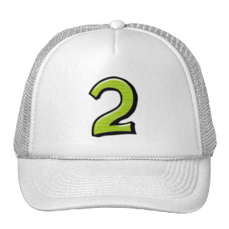 Silly Numbers 2 green Hat