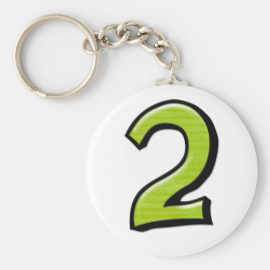 Silly Numbers 2 green Keychain