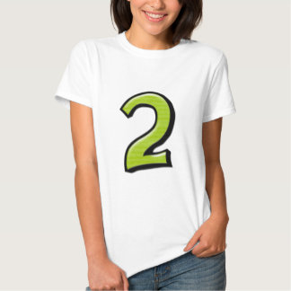 Silly Numbers 2 green Ladies T-shirt