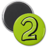 Silly Numbers 2 green  Magnet