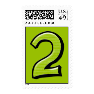 Silly Numbers 2 green Stamp