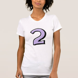 Silly Numbers 2 lavender Ladies T-shirt