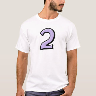 Silly Numbers 2 lavender Men's T-shirt