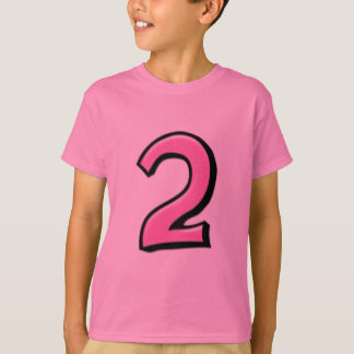 Silly Numbers 2 pink Kids T-shirt
