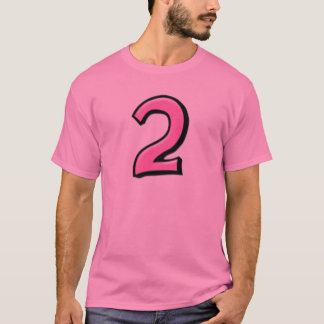 Silly Numbers 2 pink Men's T-shirt